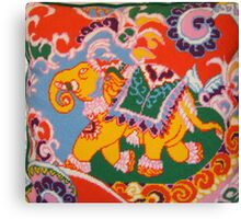 Circus Elephant- viewed 943 Canvas Print