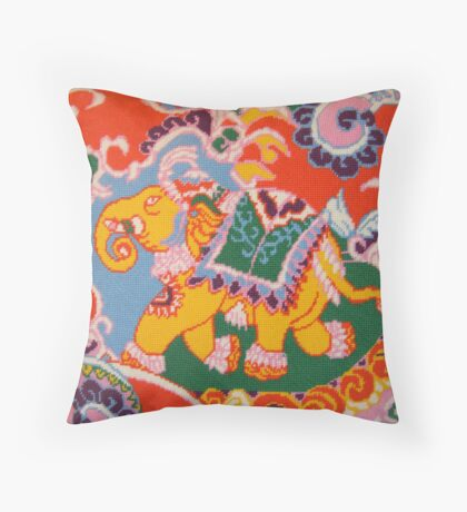Circus Elephant- viewed 943 Throw Pillow