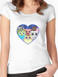 Love Owls 2 (White) Women's Fitted Scoop T-Shirt