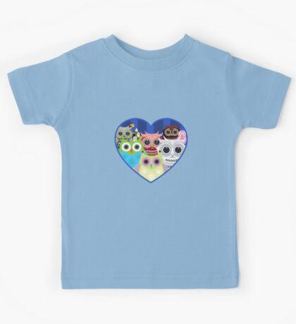 Love Owls 2 (White) Kids Tee