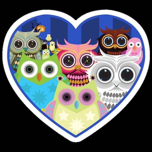 Love Owls 2 (White) by Adamzworld