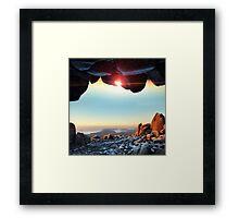 Window to the Sky Framed Print