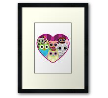 Love Owls 1 (white) Framed Print