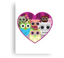 Love Owls 1 (white) Canvas Print