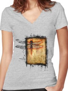 dragonfly paradox Women's Fitted V-Neck T-Shirt