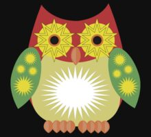Star Owl - Red Yellow Green 2 Kids Clothes
