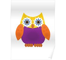Star Owl - Yellow Orange Purple Poster