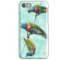 Rainbow Lorikeets on Wire iPhone Case/Skin