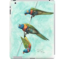 Rainbow Lorikeets on Wire iPad Case/Skin