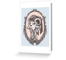 lady goat Greeting Card