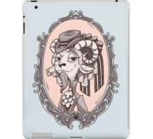 lady goat iPad Case/Skin