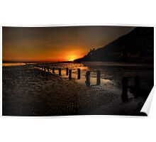 Sunset By The Beach Poster