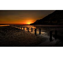 Sunset By The Beach Photographic Print