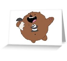 We Bare Bears Totoro Greeting Card