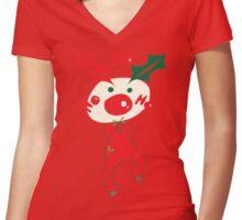 HO HO HO Christmas Style Women's Fitted V-Neck T-Shirt