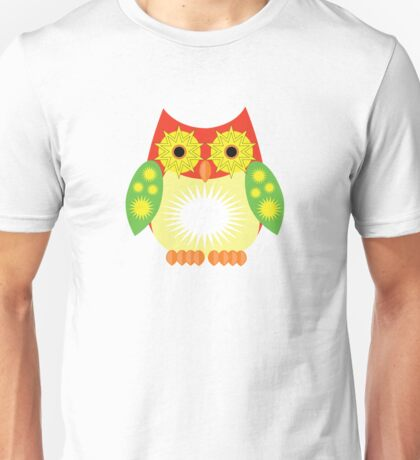 Star Owl - Red Yellow Green Unisex T-Shirt