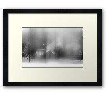 The Foggy Day After Snowstorm Framed Print