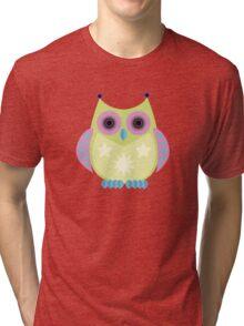 Star Owl - Green Purple Blue Tri-blend T-Shirt