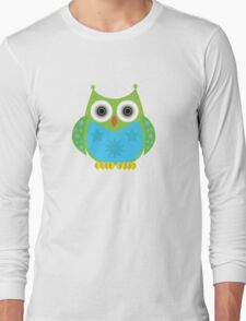 Star Owl - Green Blue Long Sleeve T-Shirt