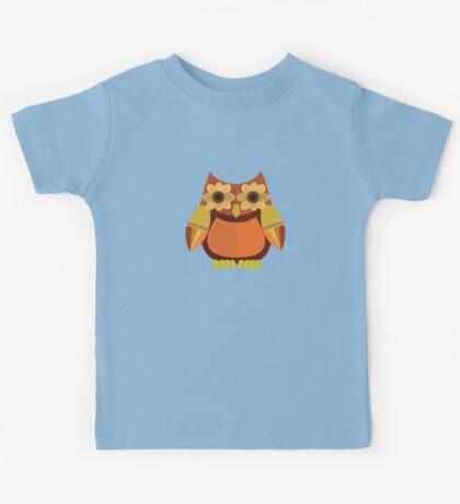 Harvest Owl - Red Orange Kids Tee