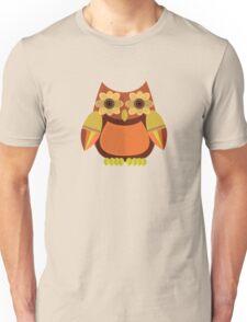 Harvest Owl - Red Orange Unisex T-Shirt