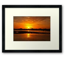 Bright gold sunset Framed Print
