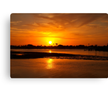 Bright gold sunset Canvas Print