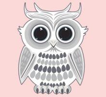 White Owl - Grey Kids Clothes