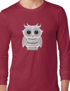 White Owl - Grey Long Sleeve T-Shirt