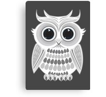 White Owl - Grey Canvas Print