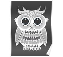 White Owl - Grey Poster