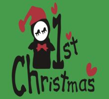 My 1st Christmas txt penguin vector art  Kids Clothes