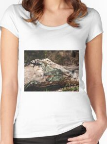 Life on the Log Women's Fitted Scoop T-Shirt