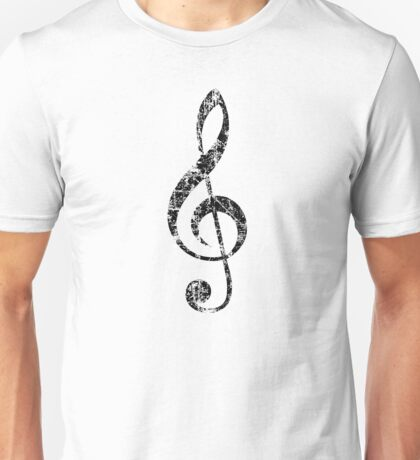 G-Clef, Treble Clef Vintage Black Unisex T-Shirt