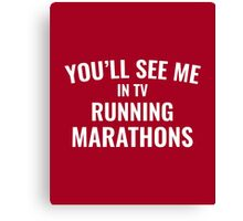 TV Running Marathons Canvas Print