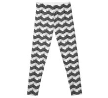 Zig Zag Bricks BlackxWhite Leggings