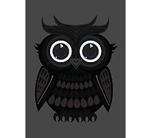 Black Owl - Grey Photographic Print