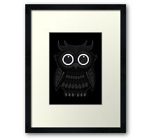 Black Owl Framed Print
