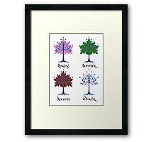 Tree of Gondor - Seasons Framed Print