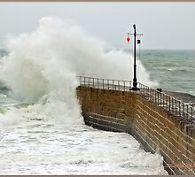 """Cornwall again under attack from the Alantic storms"" by Malcolm Chant"