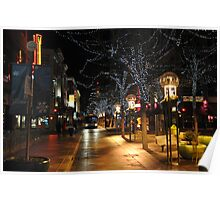 Downtown Denver, January Poster
