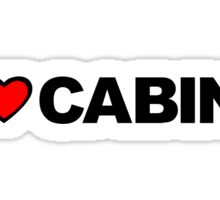 Love Cabin Sticker