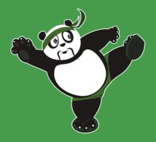 Martial Arts Panda 2 - Green Kids Tee