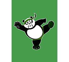 Martial Arts Panda 2 - Green Photographic Print