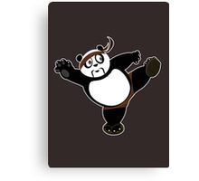 Martial Arts Panda 2 - Brown Canvas Print