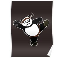 Martial Arts Panda 2 - Brown Poster