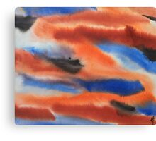 Red Rust and Blue Canvas Print