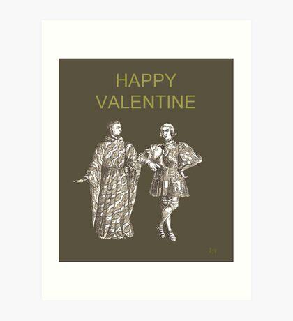 Be My Valentine, Two Men Art Print