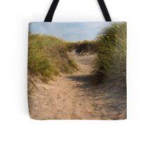 Block Island Beach Path Tote Bag