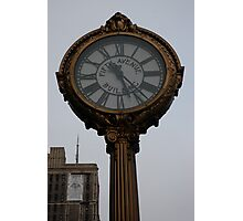 Clock, fifth avenue, new york Photographic Print